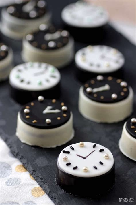 dessert for new year oreo cookie clocks pint sized baker