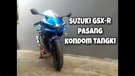Cover Tangki Gsx R150 modifikasi suzuki gsx r150 pasang tangki dll