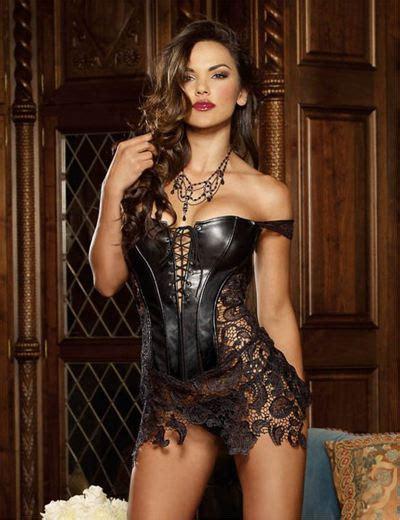 Faux Leather Valance Femmes Taille Formation Corsets Noir Fau Cuir Steampunk