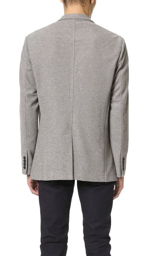 grey knit blazer shades of grey by cohen knit blazer in gray for