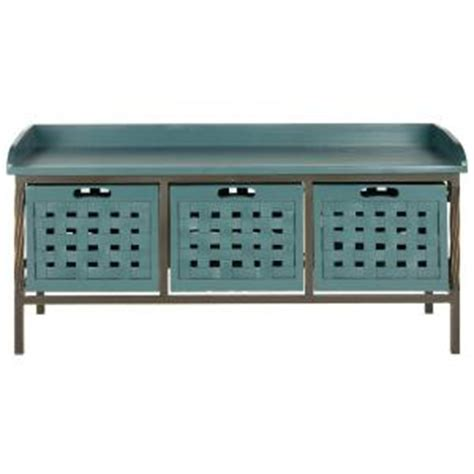 navy blue storage bench safavieh isaac wooden storage bench in navy amh6530c the