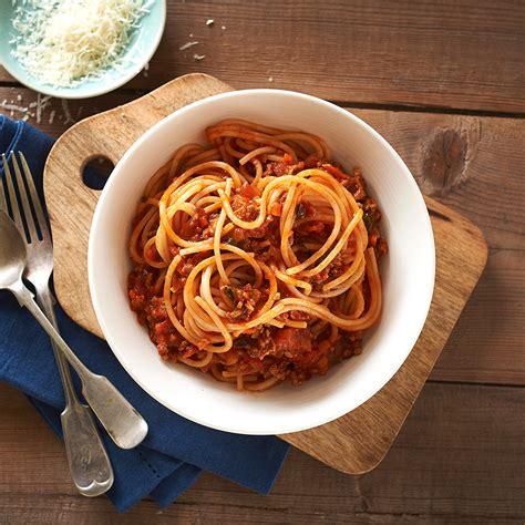 Spghetti Bolognese spaghetti bolognese healthier happier