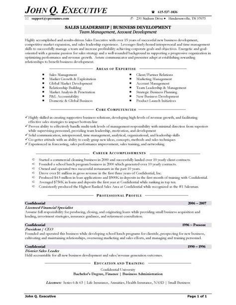 Business Executive Sle Resume by Competencies Resume Jvwithmenow