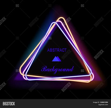 Triangel Neon by Neon Triangle Neon Light Vector Electric Frame Vintage