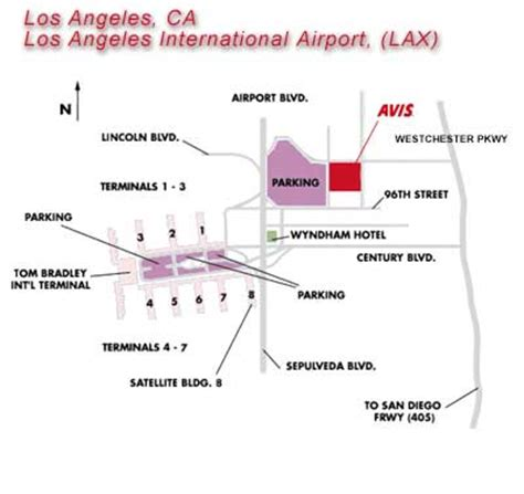 los angeles intl airport lax car rentals avis