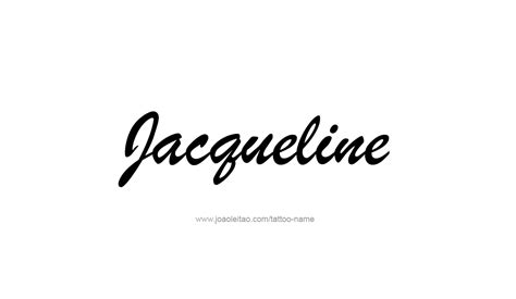 tattoo name jacqueline jacqueline name tattoo designs