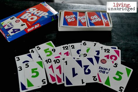 how many cards in a skipbo deck 52 family nights skip bo living unabridged