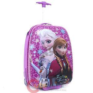 Trolly Frozen disney frozen elsa abs luggage rolling trolley bag carry roller ebay