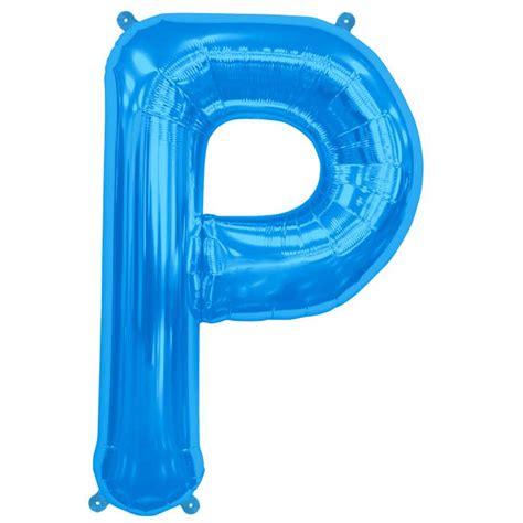 ballon en forme de lettre bleu mylar pas cher achat vente