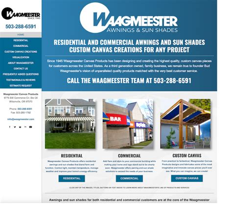 sunnc awnings website waagmeester canvas products home