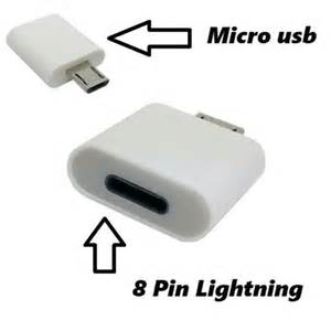 Connector Data 8 Pin To Micro Usb by 8 Pin Lightning To Micro Usb 2 0 Adapter