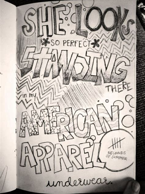 sketchbook lyrics my lyric doodle she looks so 5 seconds of