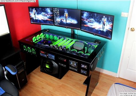 watercooled pc desk mod with built in car audio system