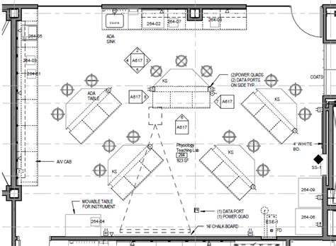 laboratory floor plan general physiology lab