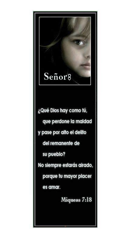 printable christian bookmarks in spanish miqueas 7 18 marcadores en espa 241 ol marcadores en