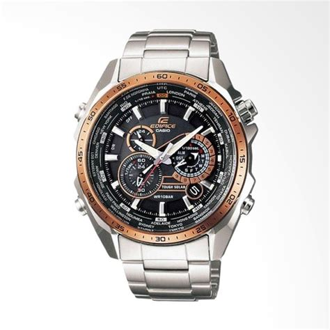 Jam Tangan Casio Ae1000wd 1a Pria Stainless Steel Silver Digit jual casio edifice world time solar powered chronograph