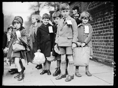children being evacuated from london science museum group collection