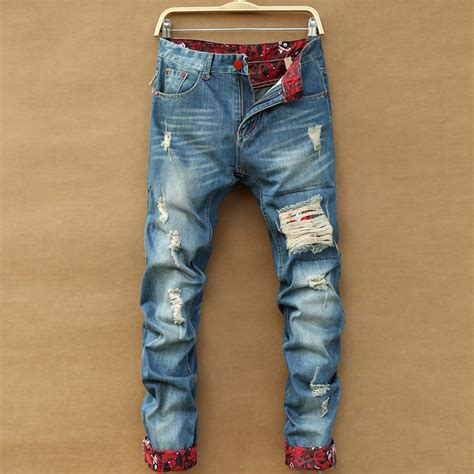 jeans style 2015 men trend 2015 new arrival korean style ripped jeans for men