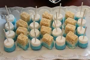 chocolate dipped rice krispie treats baby shower