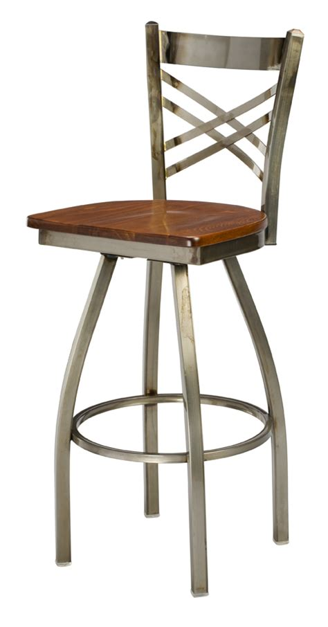 wood swivel bar stools with backs regal seating series 3515 x back commercial swivel metal
