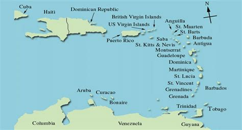 Map Caribbean Islands by Gallery For Gt Caribbean Islands Simple Map