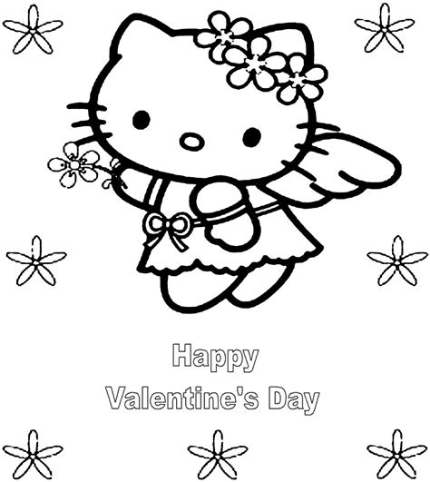 hello kitty coloring pages for valentines day hello kitty valentine day coloring pages coloringsuite com