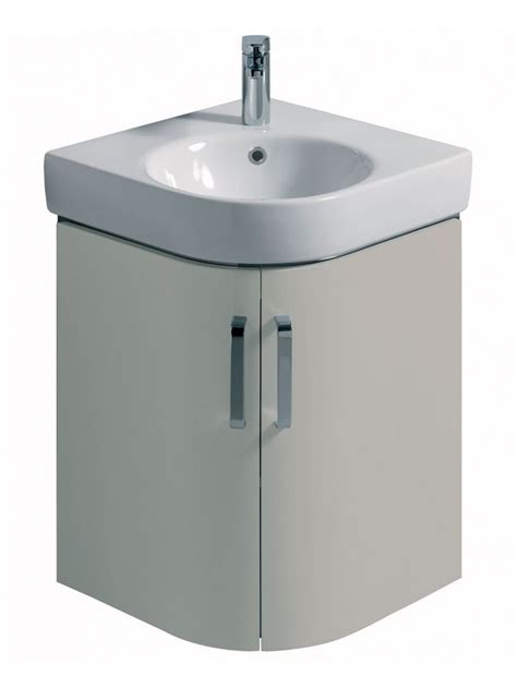 500 Vanity Unit by E200 500 Grey Corner Vanity Unit Wall Hung With 1th Basin