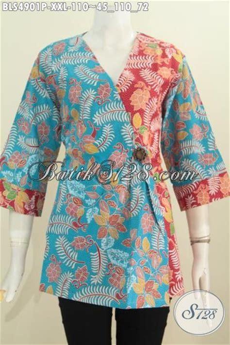 Baju Gamis Cewek 3 4th Baju Trendy Anak Muslim blus batik jumbo cewek gemuk busana batik keren ukuran 3l