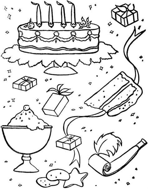 free coloring pages birthday party birthday party coloring pages az coloring pages