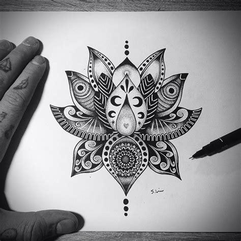 lotus flower design on behance