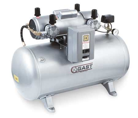 gast electric air compressor tank mounted 7hdd 70ta m750x zoro