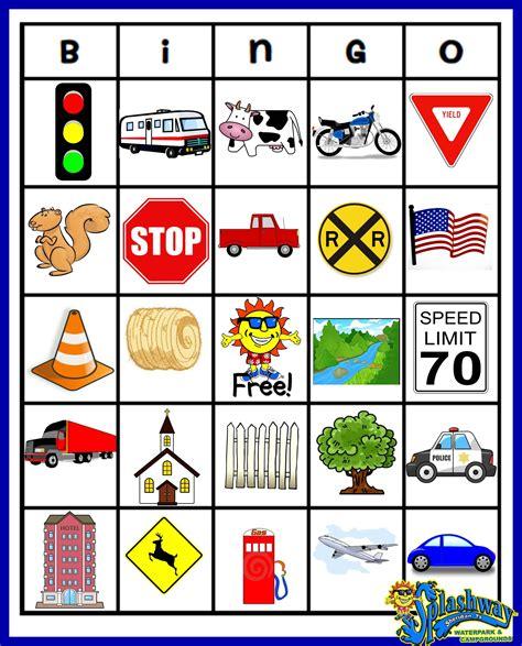 printable road trip bingo pics for gt printable road trip bingo cards