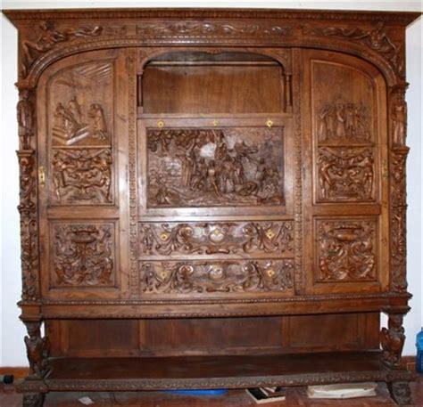 restauracion muebles madera conjunto de mesa de despacho madera tallada restauracion