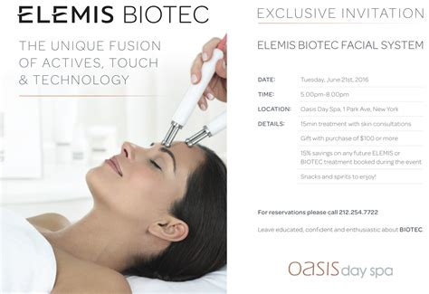 Massage Gift Card Nyc - elemis event save the date oasis day spa