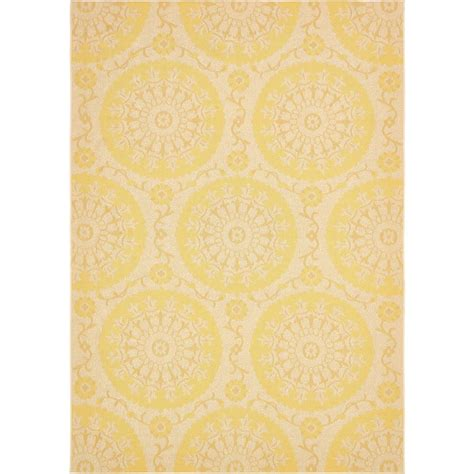 4 x 8 area rugs unique loom outdoor yellow 8 ft x 11 ft 4 in area rug 3135471 the home depot