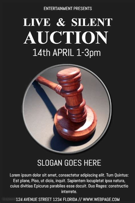 Silent Auction Flyer Template Postermywall Auction Flyer Template
