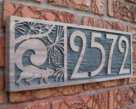 decorative house number signs stupefy metal numbers