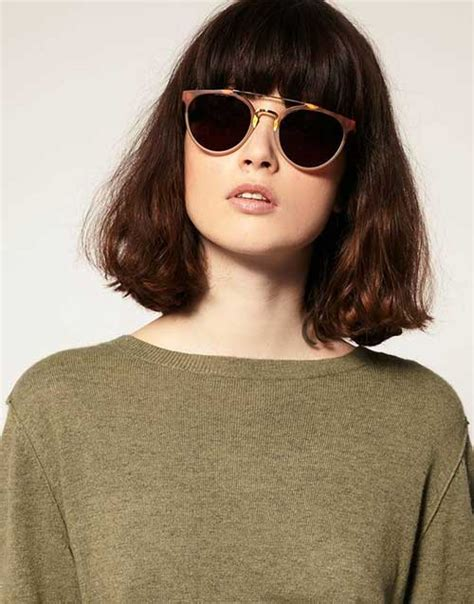hairstyles with fringes and glasses nice short bob haircuts with bangs short hairstyles 2017