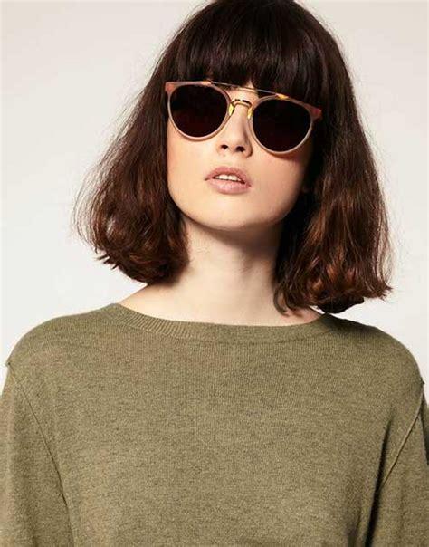 bangs on girls with sunglasses nice short bob haircuts with bangs short hairstyles 2017