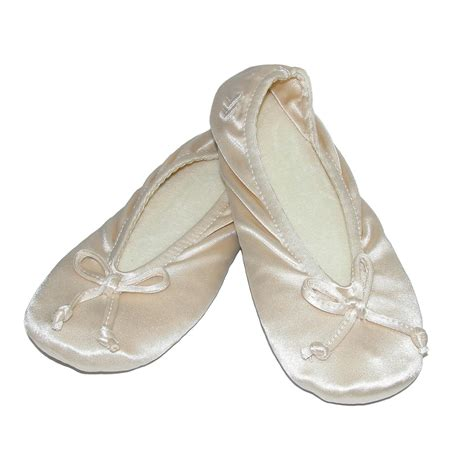 isatoner slippers womens satin classic ballerina slippers by totes isotoner