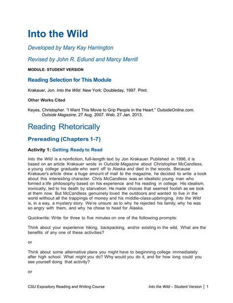Chris Mccandless Essay by Was Chris Mccandless Essay Bokus X Fc2
