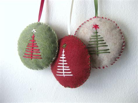 christmas ornament set  felt handmade felt  makecreatenyc