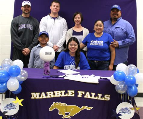 Junior College Letter Of Intent Baseball marble falls volleyball s natalie chapa signs with cisco