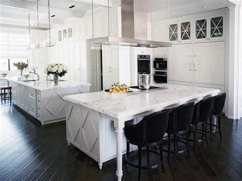 Pictures Of Beautiful Kitchen Designs Layouts From Hgtv White Kitchen Island With Seating