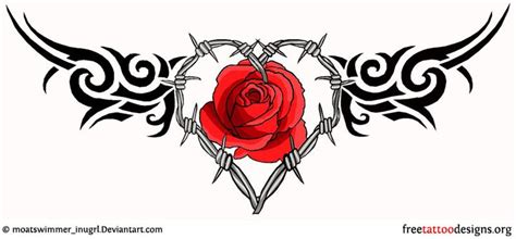 rose and barbed wire tattoo lower back barbed wire and tattoos and stuff