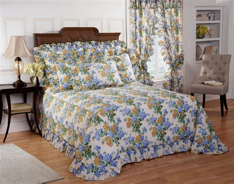 hydrangea comforter plisse hydrangea floral bedspread with separate sham