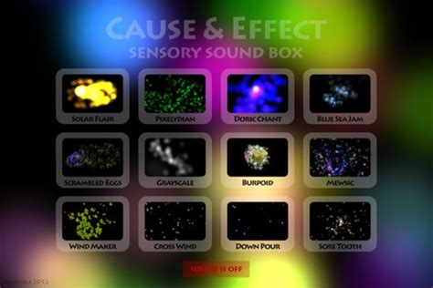 Sensory Box Seri B 235 best images about cause and effect apps on
