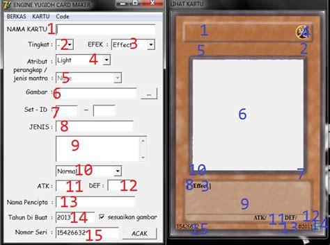 cara membuat id card di easy card creator akhsan ryan cara membuat kartu yu gi oh dengan yu gi oh
