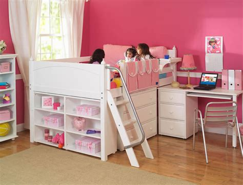 loft bed kids maxtrix kids full low loft bed with desk dresser and bookcase