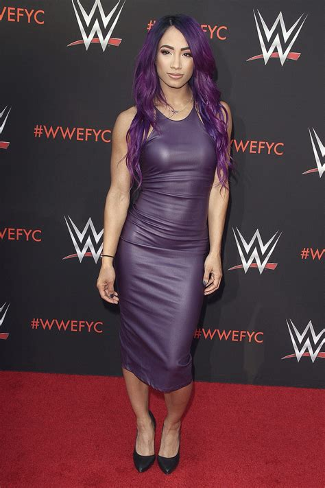 sasha banks attends wwe fyc event leather celebrities